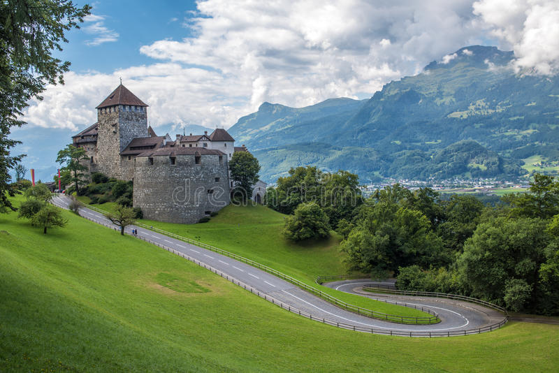 Vaduz Castle, the palace of the Liechtenstein Prince royalty free stock images