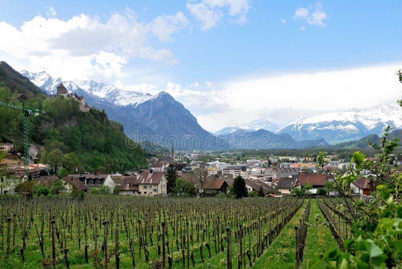 Vaduz castle view. Lichtenstein royalty free stock photo
