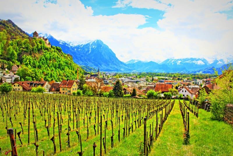 Vaduz Liechtenstein fotografia stock libera da diritti
