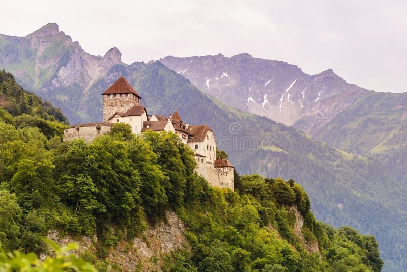 Vaduzkasteel in Liechtenstein royalty-vrije stock afbeelding