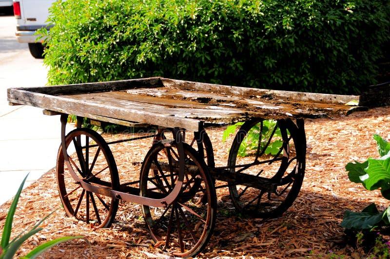 Vagão de madeira antigo, Florida sul fotografia de stock royalty free