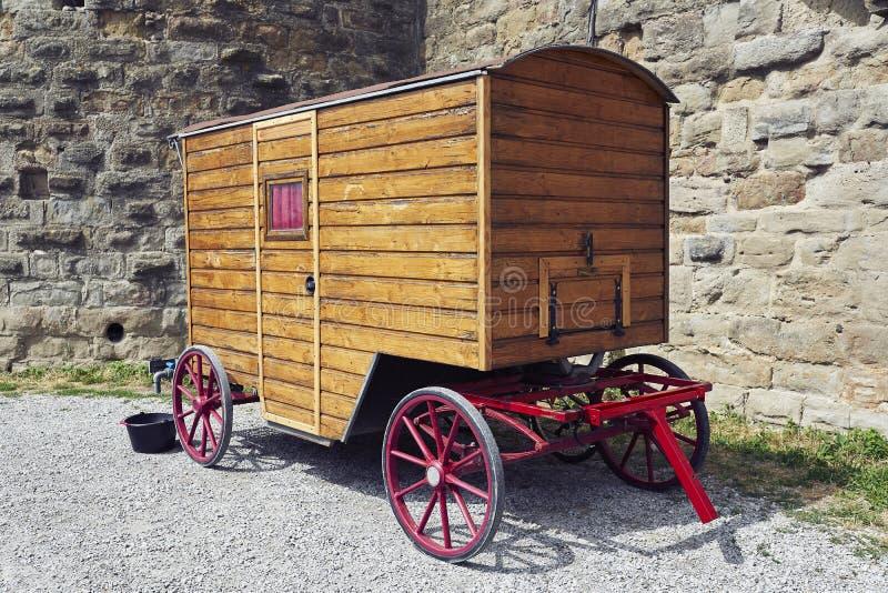 Vagão de madeira velho imagem de stock