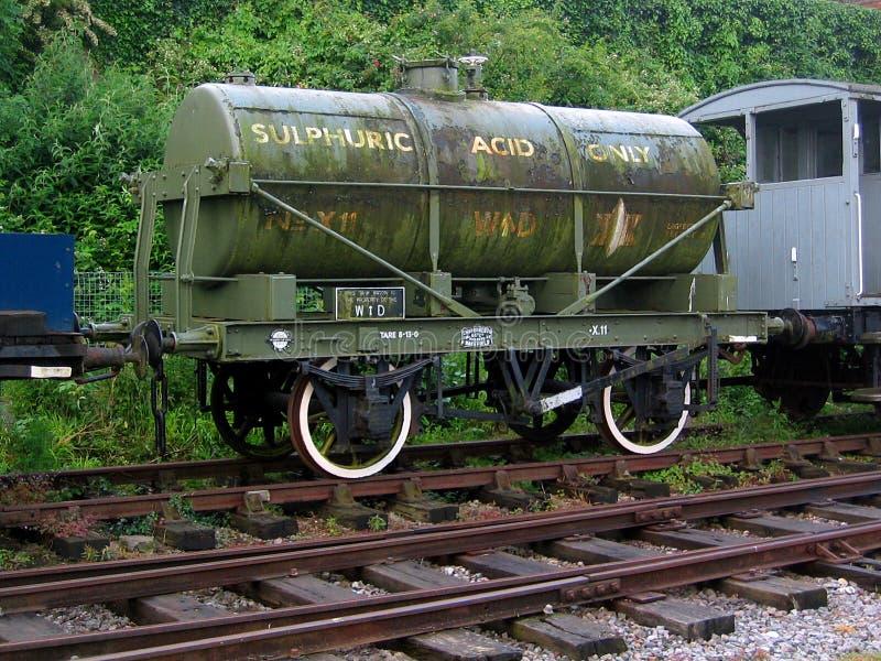 Vagão de tanque do ácido sulfúrico de WD foto de stock royalty free