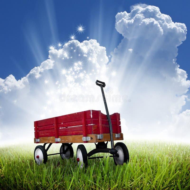 Vagão vermelho foto de stock