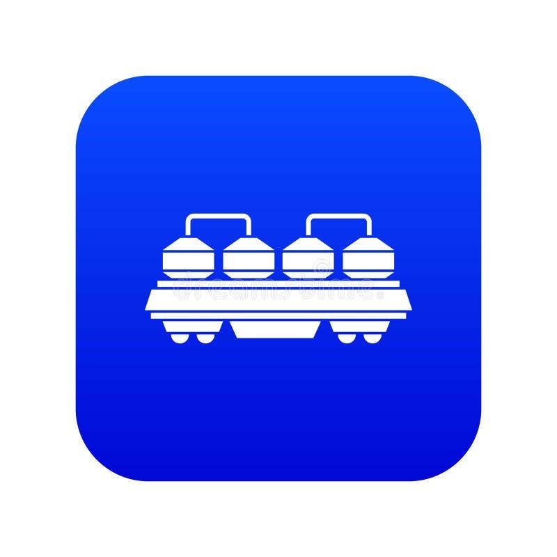 Vag?n para el azul digital del icono del cemento libre illustration