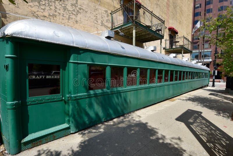 Vagón restaurante convertido fotografía de archivo libre de regalías
