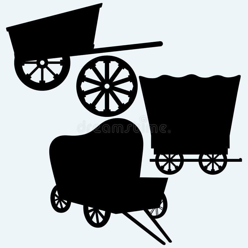 Vagões do vintage a transportar ilustração stock