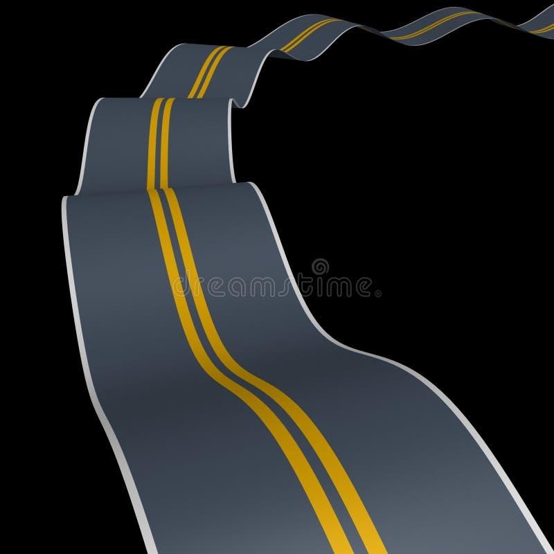 Download Vaga el camino stock de ilustración. Ilustración de transporte - 7280872