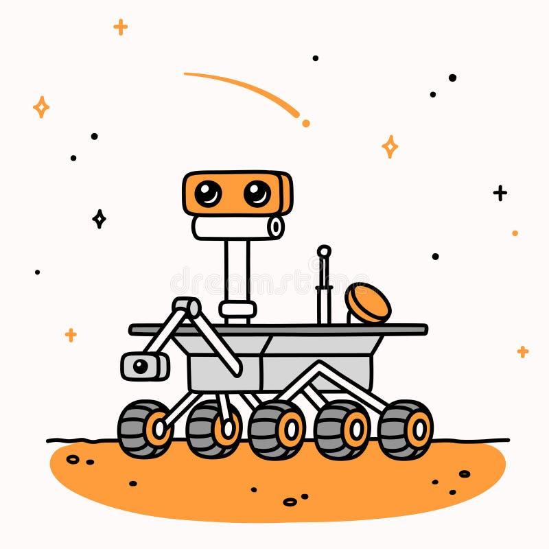 Vagabond de Mars de bande dessin illustration de vecteur