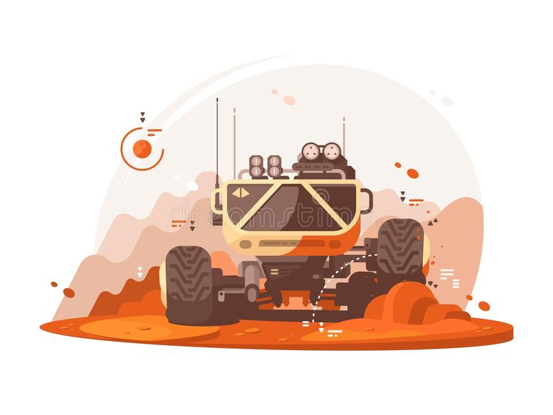 Vagabond de Mars pour la recherche scientifique illustration de vecteur