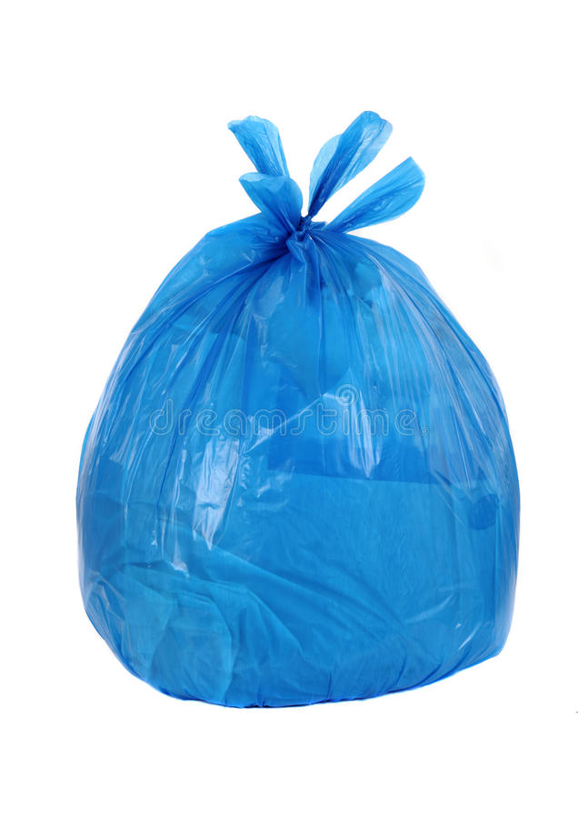 Vagabundos azuis do lixo fotografia de stock