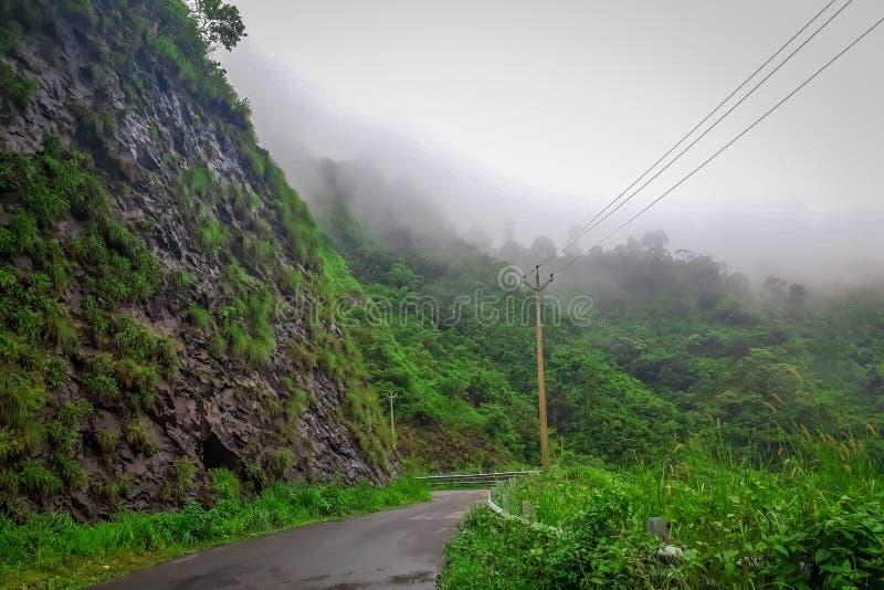 Beginning of Vagamon hills station, Vagamon is one of the best tourist destination in Idukki district Kerala, South India. Vagamon, Kerala, India- 07 July 2019 royalty free stock photography