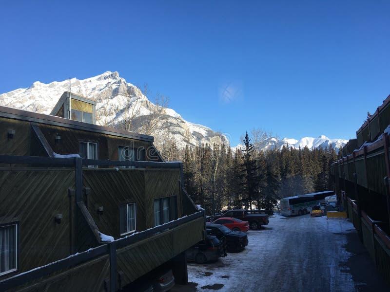 Vagando intorno a Banff, Alberta, Calgary nell'inverno fotografia stock libera da diritti