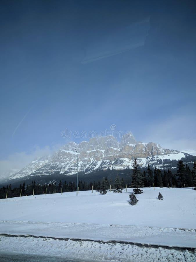 Vagando por alrededor de Banff, Alberta, Calgary en invierno imagenes de archivo
