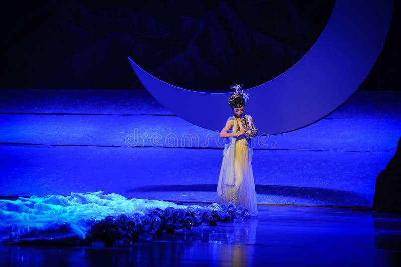 Vagando sotto la luna di balletto della luna-Hui sopra Helan fotografie stock