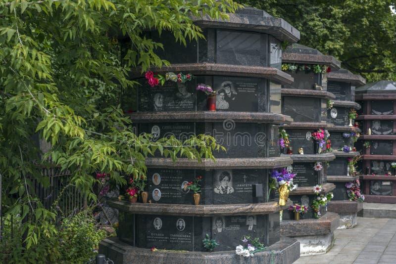Vagankovskoye cmentarz w Moskwa zabytkach w cmentarzu na letnim dniu obrazy royalty free