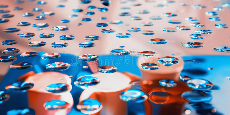 Vage abstracte blauwe en roze achtergrond royalty-vrije stock foto's