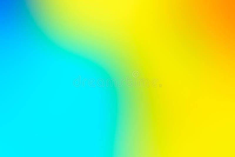 Vage achtergrond in trillende neonkleuren Multicolored onscherp textuurpatroon voor ontwerp Gele en blauwe achtergrond royalty-vrije illustratie