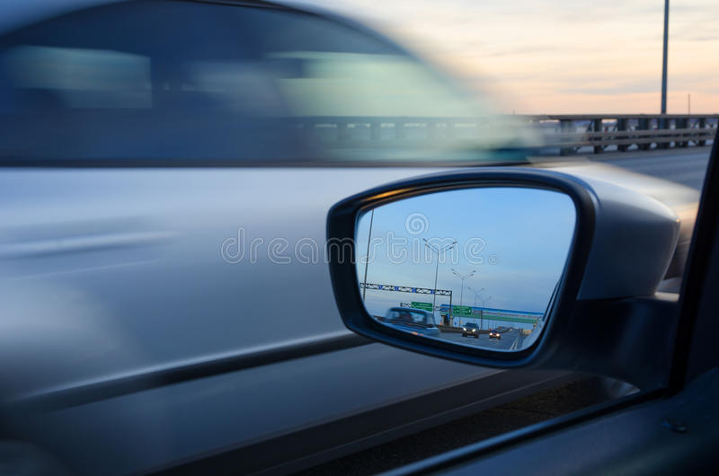Vage actie van auto stock afbeelding
