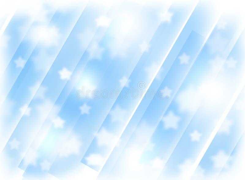 Vage blauwe achtergrond met sterren Abstractie Het thema van Kerstmis stock foto