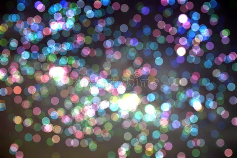 Vage bokeh kleurrijke stercirkel royalty-vrije stock afbeeldingen