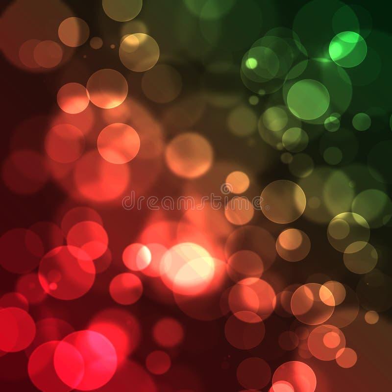 Vage de achtergrond van Kerstmis bokeh. royalty-vrije stock afbeeldingen