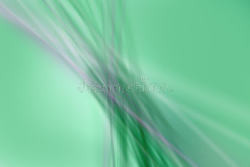 Vage, defocus groene en purpere lijnen zoals achtergrond - illustratie royalty-vrije illustratie