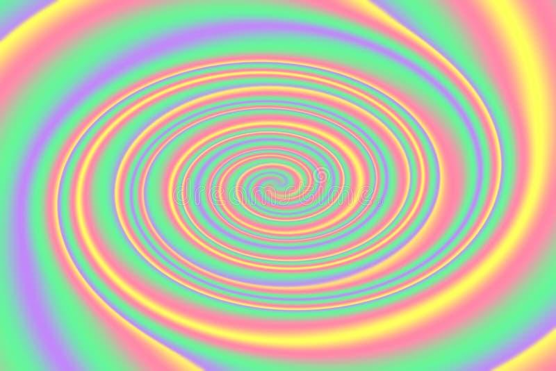 Vage draai kleurrijke heldere gradiënt, de golfeffect van de regenboog kleurrijke lichte werveling achtergrond, kleurrijk gradiën vector illustratie