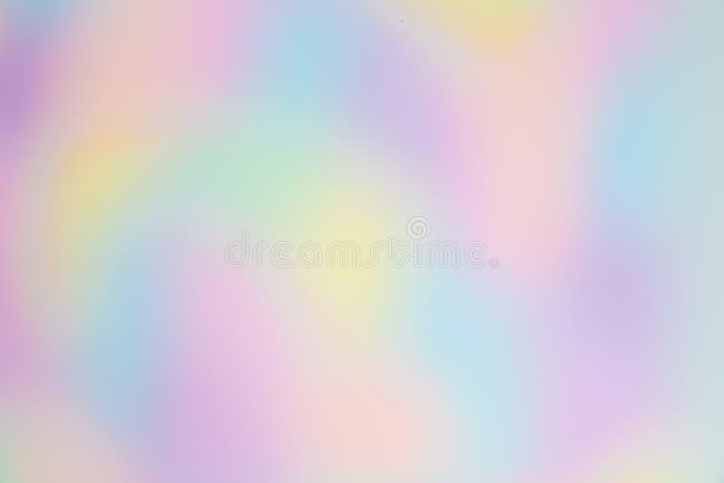 Vage en Mooie Regenboog of Multi Gekleurde Achtergrond met Organische, vrij-Gevormde Vormen royalty-vrije stock foto's