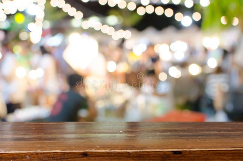 Vage het Lopen Straatmarkt stock foto's