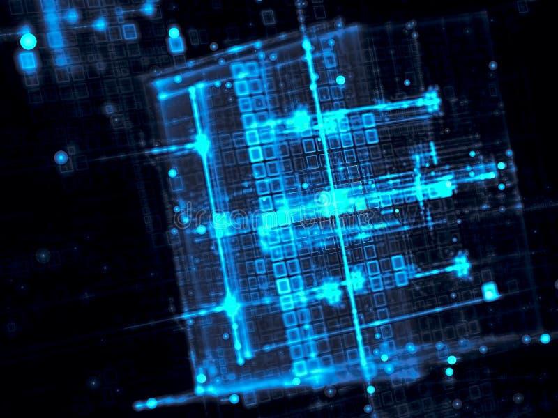 Vage kubussen - abstract digitaal geproduceerd beeld royalty-vrije illustratie
