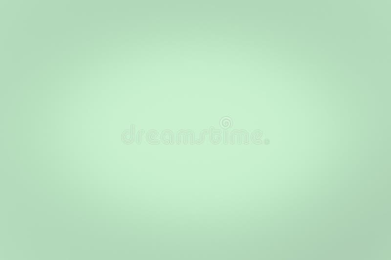 Vage lichtgroene kleur als achtergrond Verlichting in het centrum vector illustratie