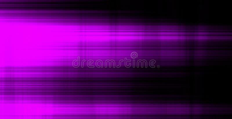Vage Motie Kleurrijke neon gloeiende lijnen op zwarte achtergrond stock fotografie