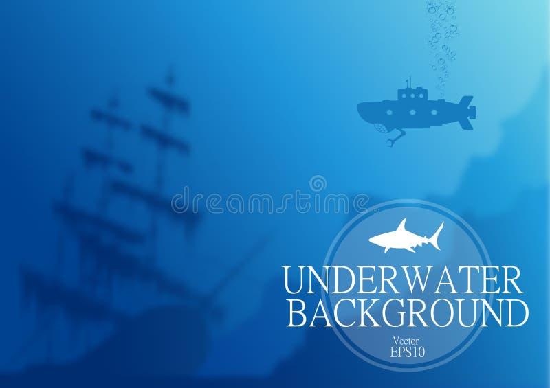 Vage onderwaterachtergrond royalty-vrije illustratie