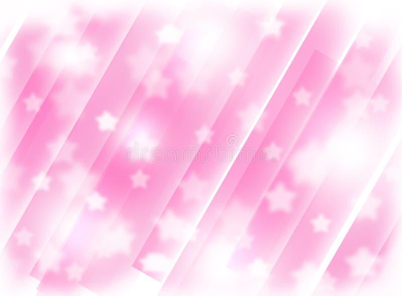 Vage roze achtergrond met sterren Abstractie Het thema van Kerstmis stock illustratie