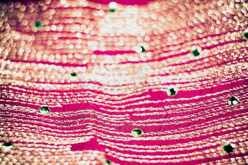 Vage Roze Textiel met Retro Strasses royalty-vrije stock foto