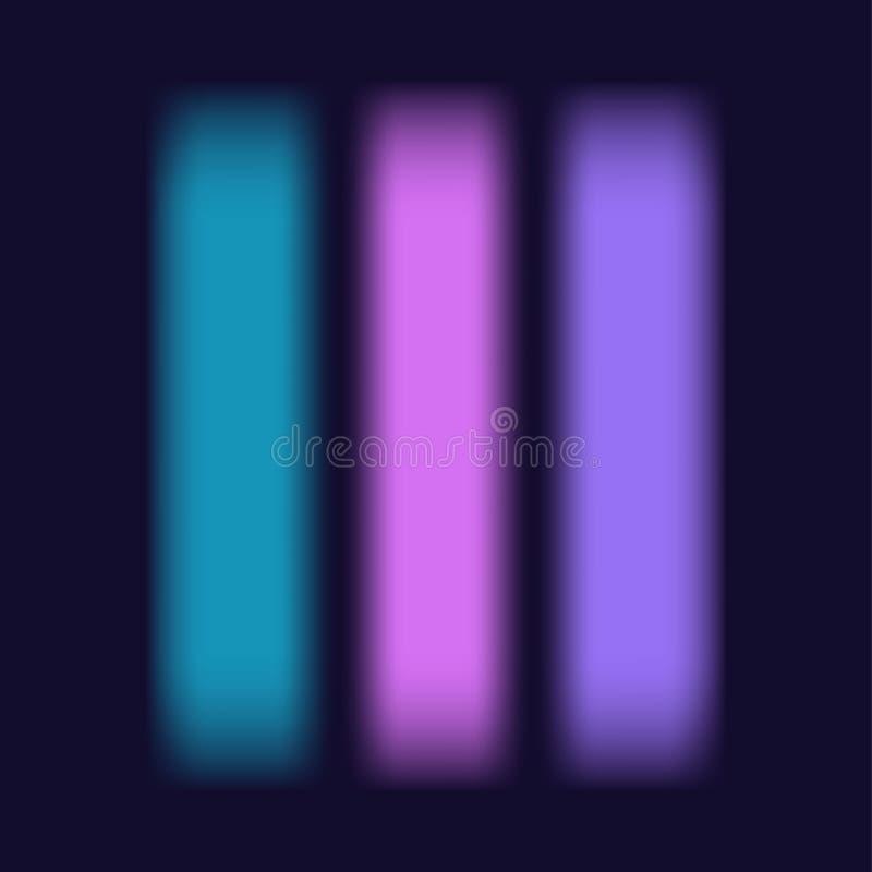 Vage zachte trillende roze purple tuquoise van de de gradiëntstroom van het kleurenpalet vlotte de textuur vierkante minimale ban royalty-vrije illustratie