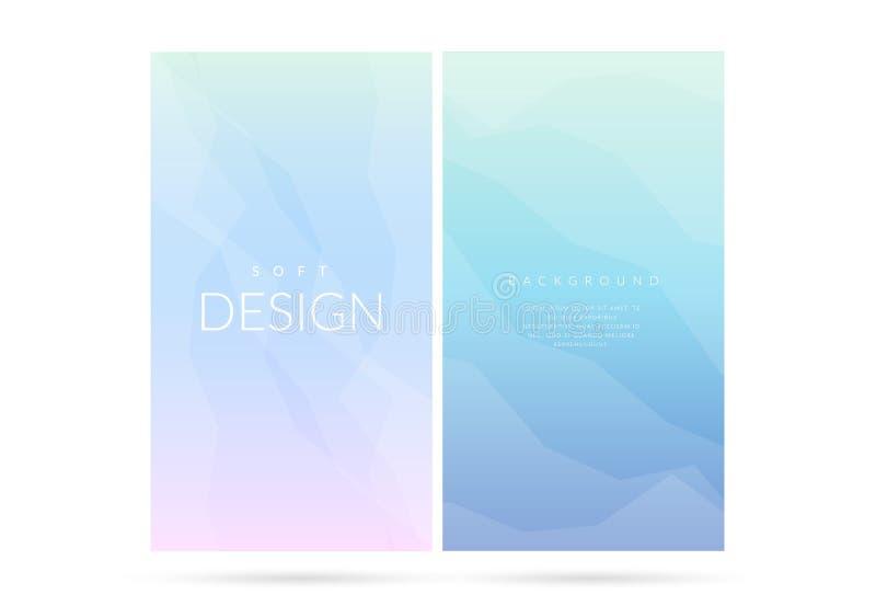 Vage zachte van de kleurengradiënt verticale reeks als achtergrond royalty-vrije illustratie