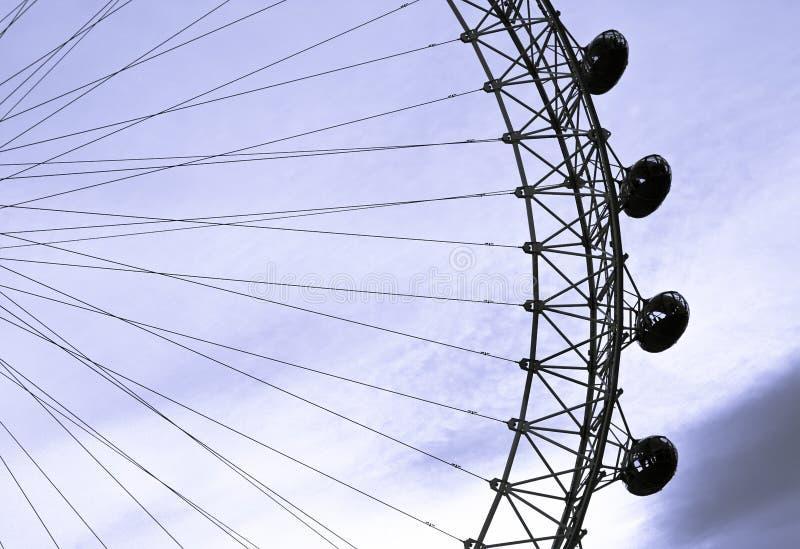 Vagens do olho de Londres fotografia de stock royalty free