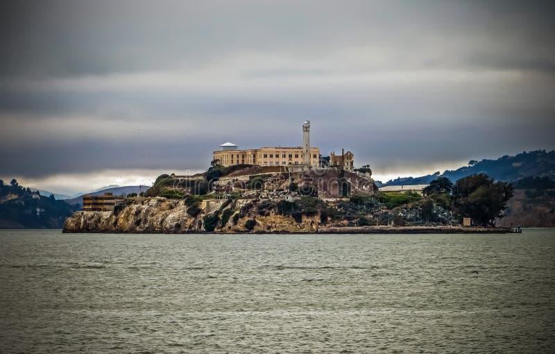 Vagga - Alcatraz fängelse i San Francisco, CA royaltyfria foton
