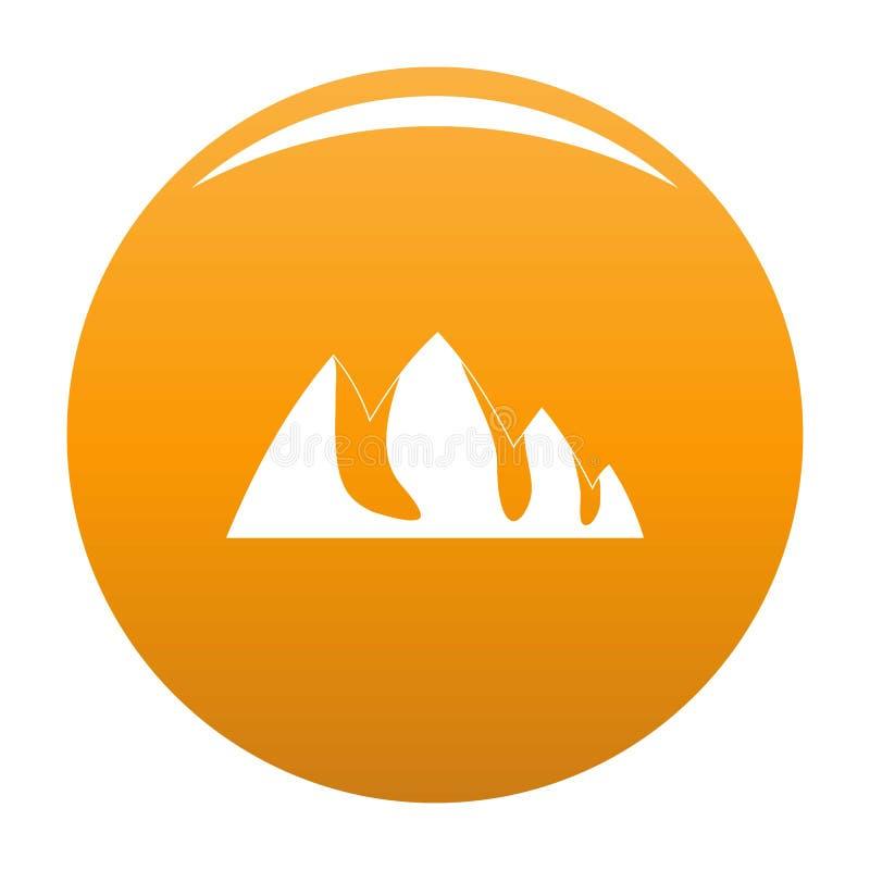 Vagga apelsinen för klättringsymbolsvektorn stock illustrationer