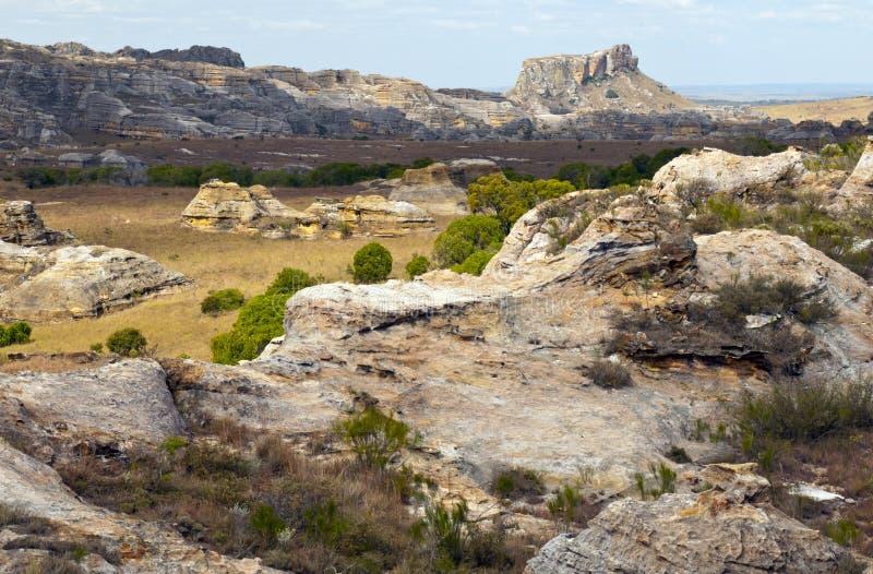 Vagga bildande, den Isalo nationalparken, Madagascar royaltyfri foto