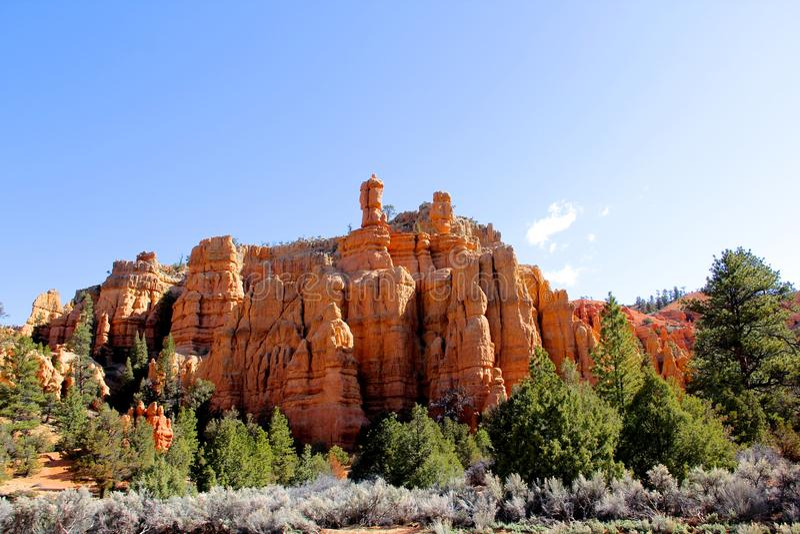 Vagga bildande från Bryce Canyon National Park Utah royaltyfri bild