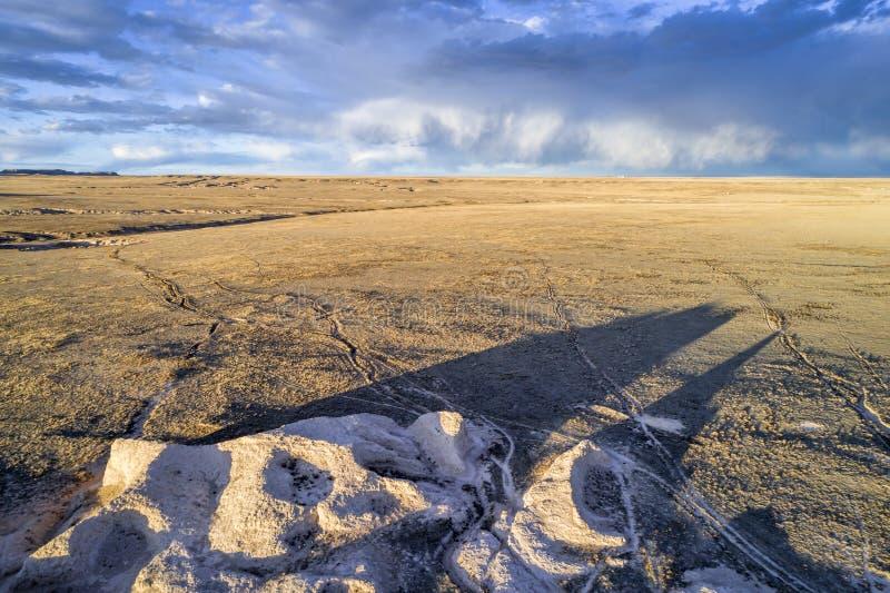 Vagga bildande och prärien i nordliga Colorado fotografering för bildbyråer