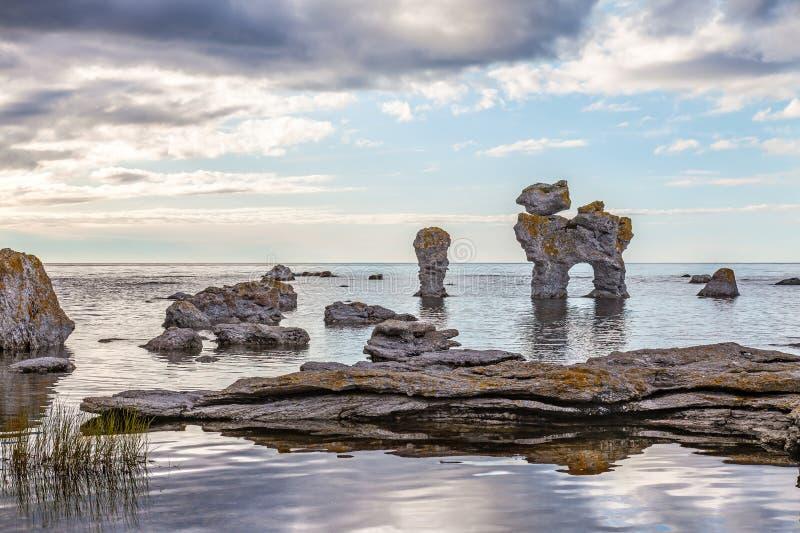 Vagga bildande på Gotland arkivbilder