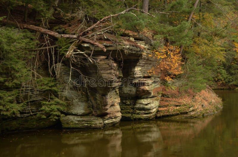 Vagga bildande på Wisconsinet River arkivfoton