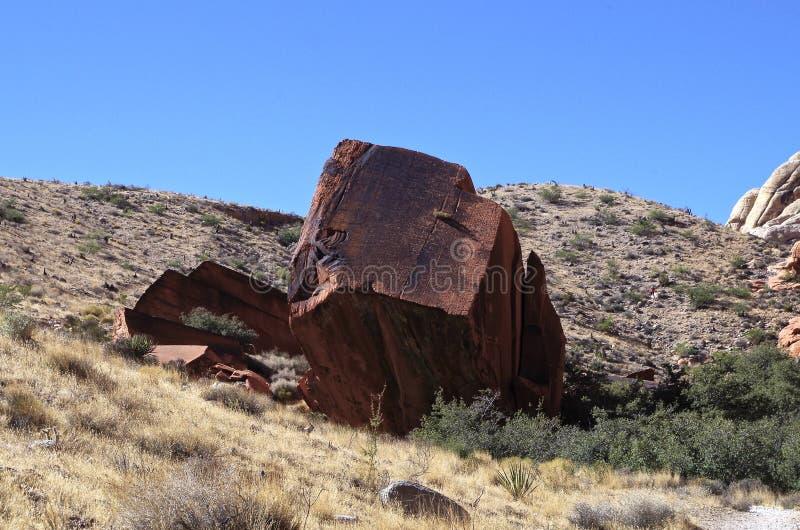 Vagga bildande som är rött vaggar naturvårdsområde, sydliga Nevada, USA fotografering för bildbyråer