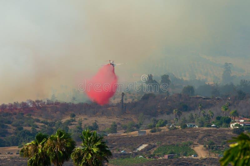 Vagga brand San Diego California arkivfoto