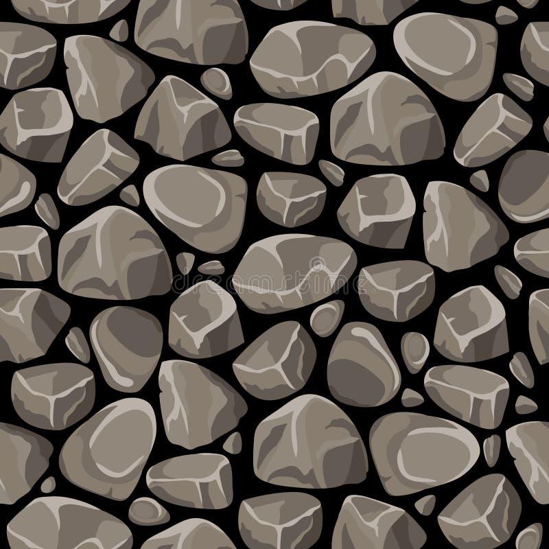 Vagga den sömlösa modellen för stenen stock illustrationer