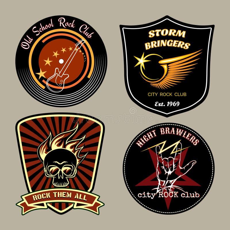 Vagga emblem stock illustrationer